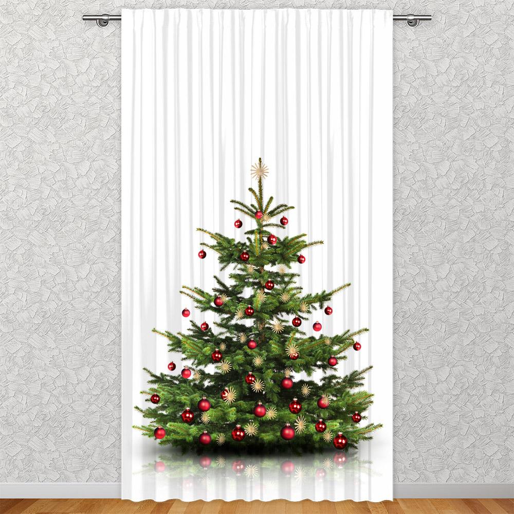 vorhang weihnachtsbaum 135 x 245 cm fotovorhang motiv. Black Bedroom Furniture Sets. Home Design Ideas